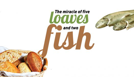 The miracle of five loaves and two fish